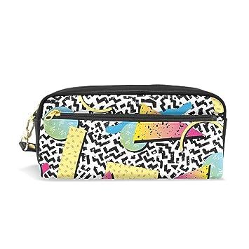 BONIPE - Estuche para lápices, diseño de leopardo, triángulo ...