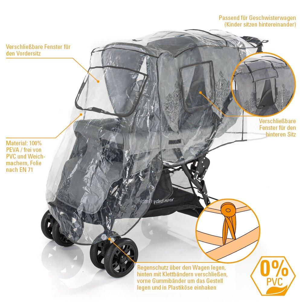 DIAGO 30009.75266 - Protección para la lluvia para silla ...