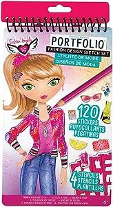 Fashion Angels Fashion Design Compact Sketch Portfolio (12213), Fashion Sketch Book,Multicolor