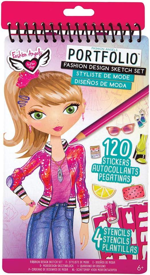 Amazon Com Fashion Angels Fashion Design Compact Sketch Portfolio Toys Games