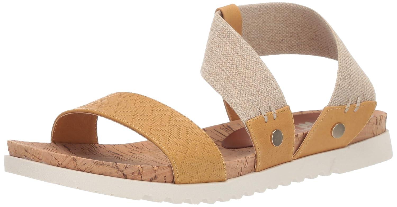 Marigold Yellow Box Womens Meera Flat Sandal