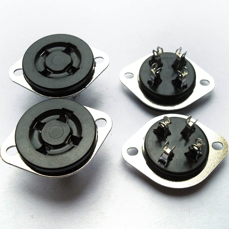 Cary 4pcs 4pin Ceramic Vacuum Tube Socket Top Mount Valve for 300b 2a3 Audio Amps