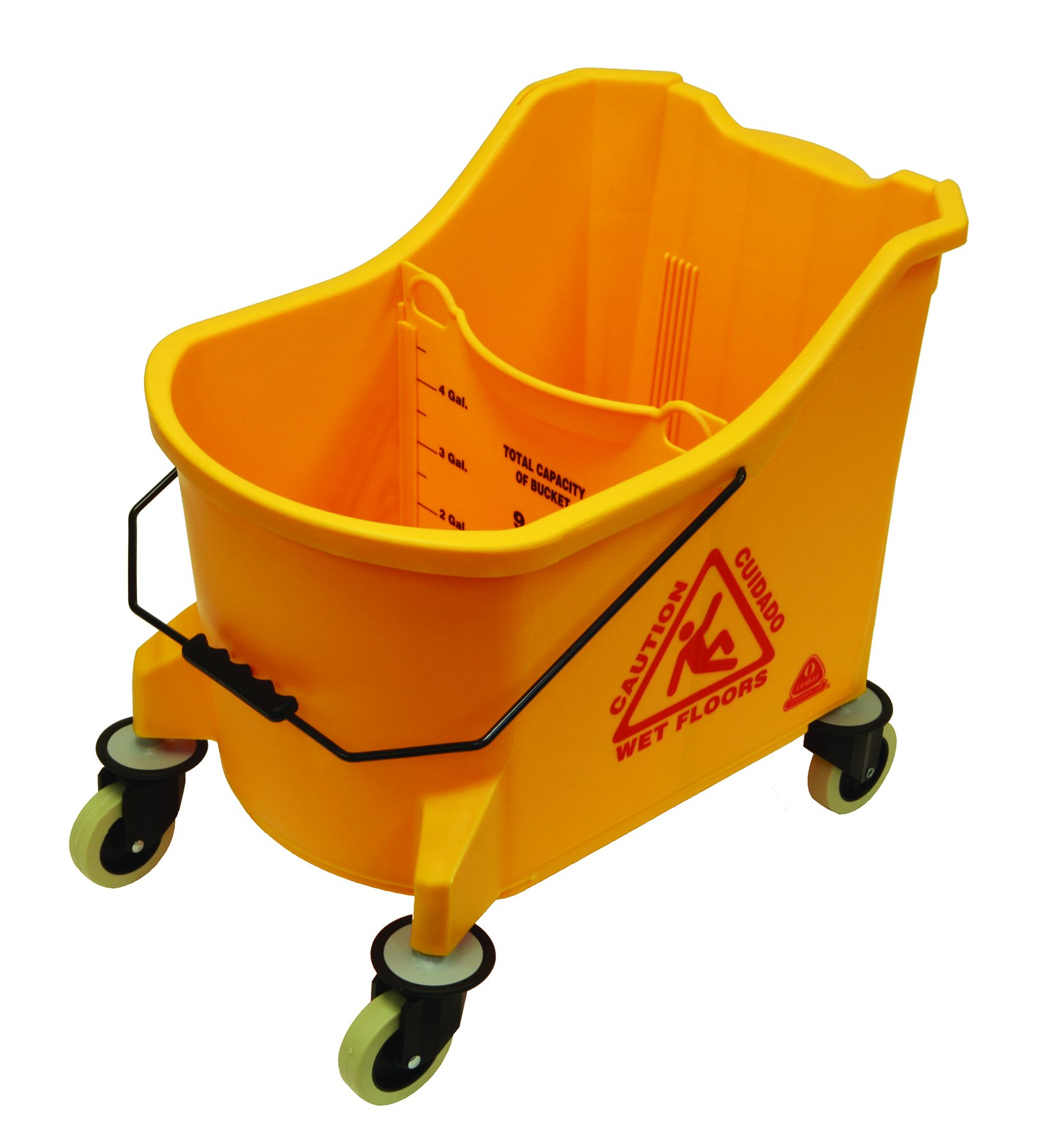 O'Cedar Commercial 978 36 quart MaxiPlus Mop Bucket, Yellow