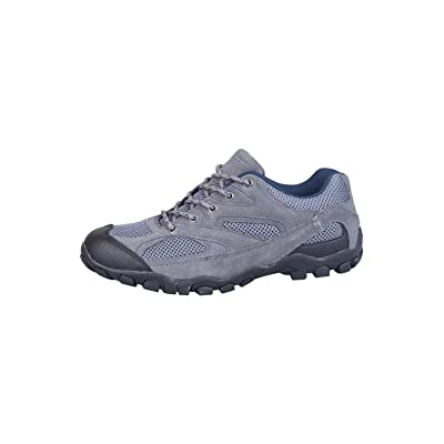 Mountain Warehouse Outdoor Men's Walking Shoes - Suede, Mesh Upper & Lining with 100% Rubber Sole, Cushioned Footbed - Great for Layering | Hiking Shoes