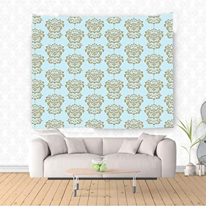Amazon Com Nalahome Damask Floral Pattern In Nostalgic Tones With