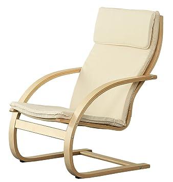 Orolay Fauteuil Confortable Structure Bouleau Flexible Blanc Amazon