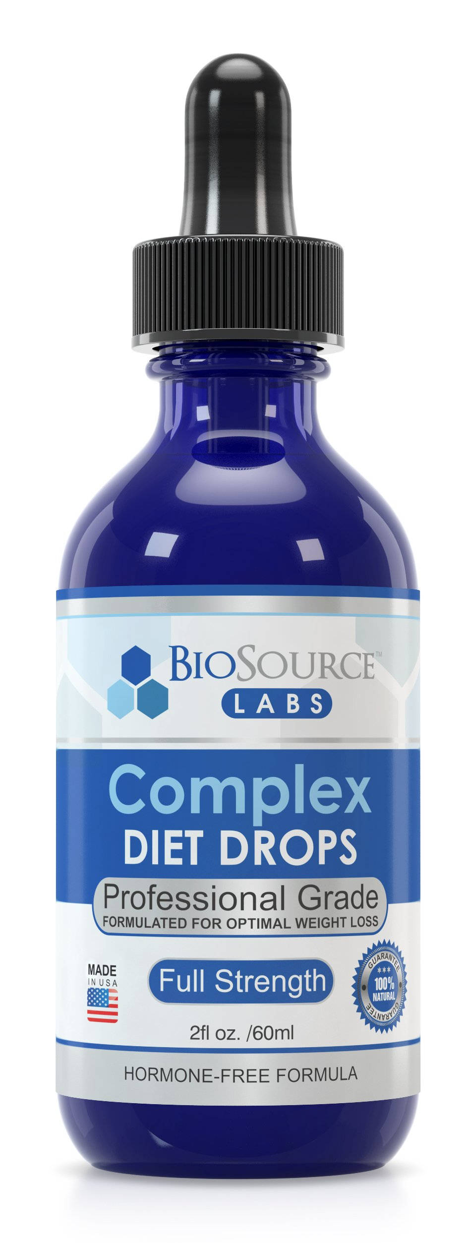 BioSource Labs Complex Diet Drops: Lean Weight Loss Drops for Rapid Weight Loss| Slenderizing Drops to Boost Your Weight Loss Meal Plan| Best Natural Metabolism Booster for Men & Women| 2 oz Bottle by BioSource Labs