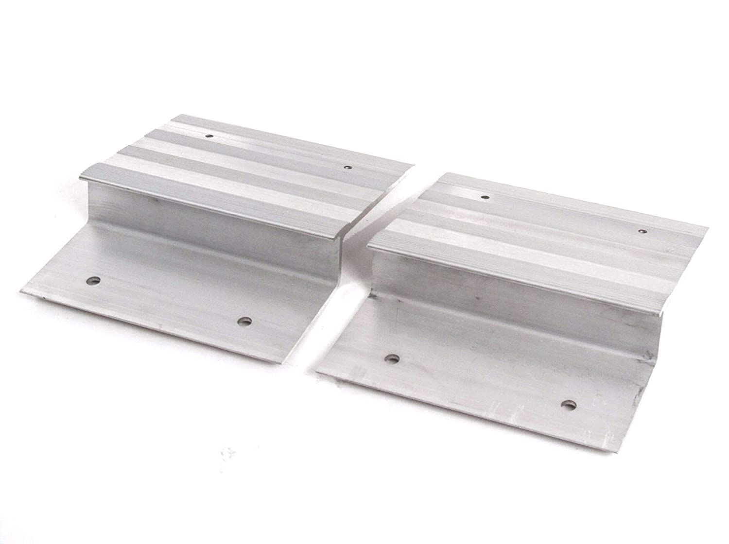 Compatible with Ramp Aluminum Truck Top End Kit with Hardware Loading ATV Mower Motorcycle 12 Wide 2 Pieces