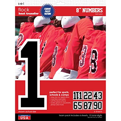 9c5ce0d2391 Amazon.com  SEI 8-Inch Iron-On Team Pack Numbers