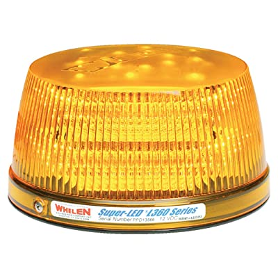 Whelen Engineering L31 Series Super-LED Beacon - High Dome, Flat Mount - Amber: Automotive
