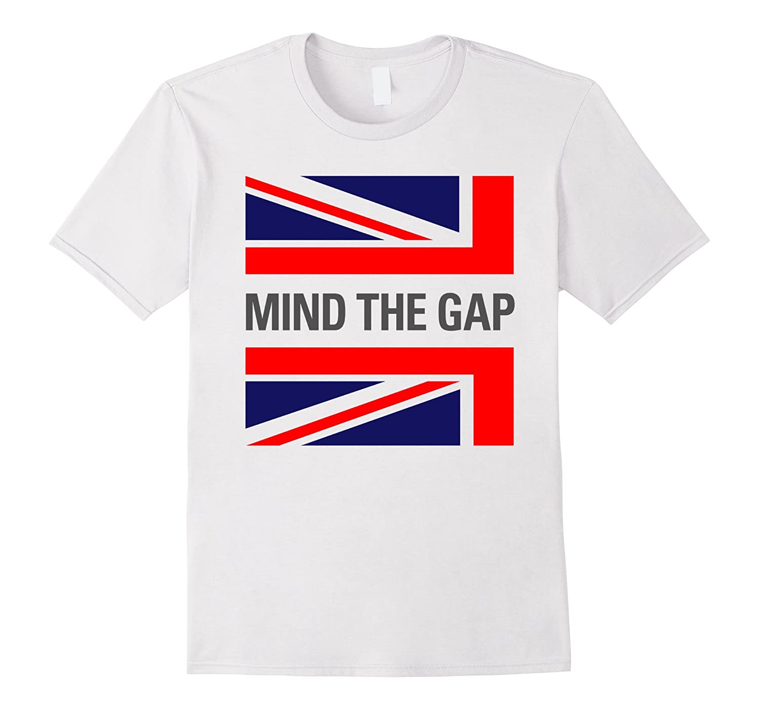 Mind The Gap London England British Flag Funny T-Shirt-CD