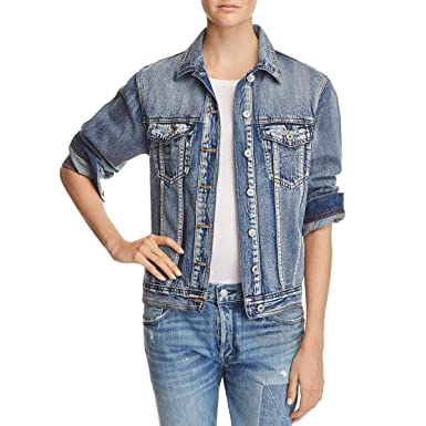73d520a088e02 Sunset & Spring Womens Embroidered Faded Jean Jacket at Amazon Women's Coats  Shop