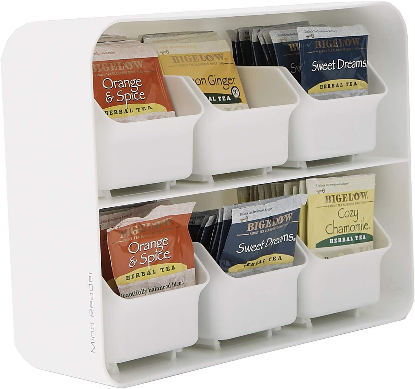 Mind Reader Teebeutelhalter mit 6 Schubladen White wei/ß