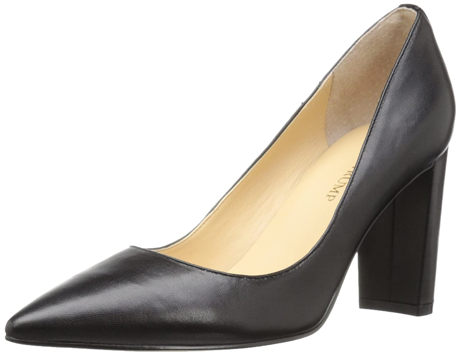 Ivanka Trump Women's Katie Dress Pump B01CDUSHRM 7 B(M) US|Black Leather