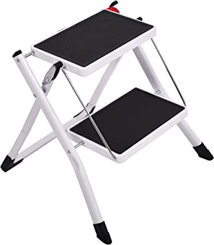 Amazon Com Foldable Step Stool Wide Pedal Small Step Ladder 2 Step Home Kitchen Home Improvement