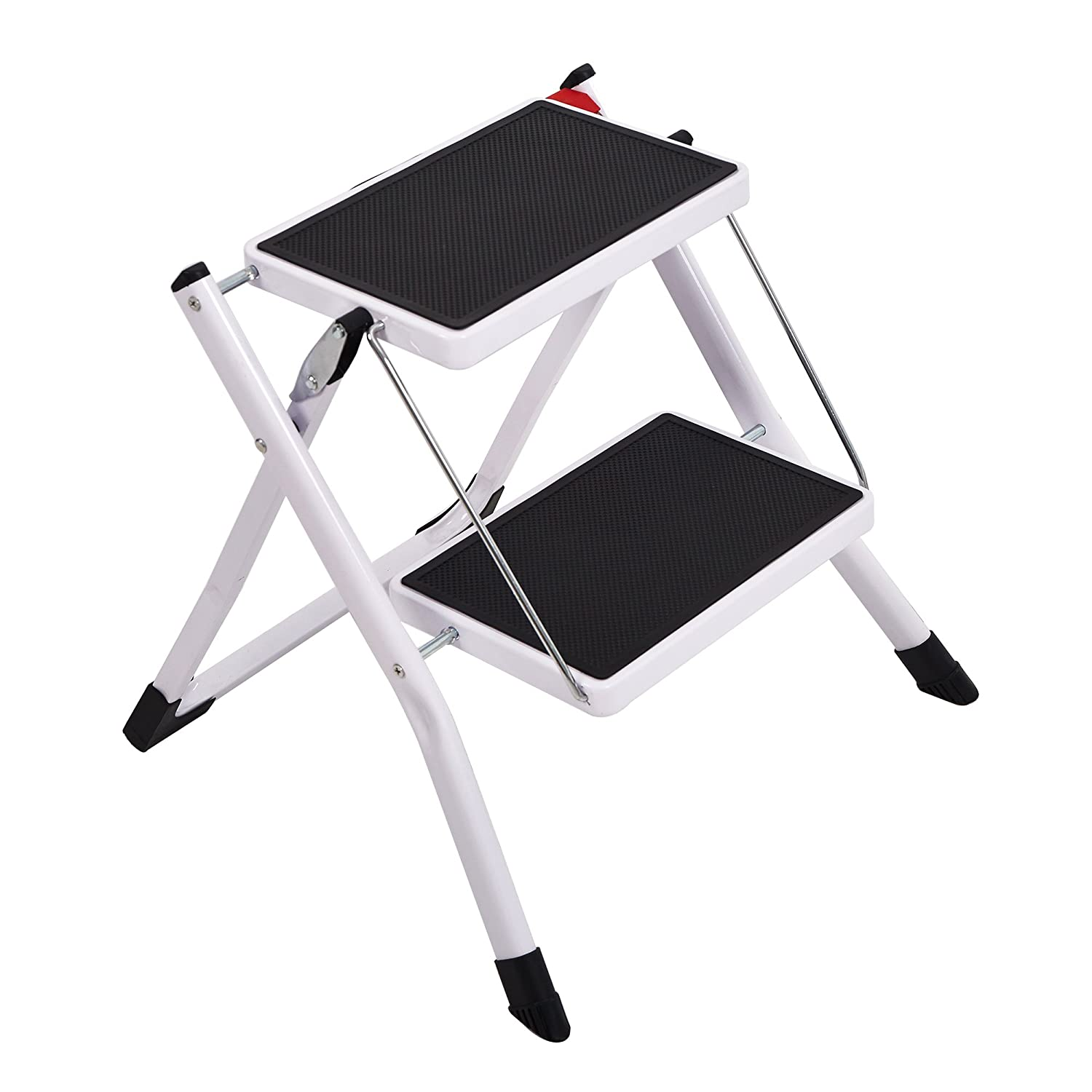 Surprising Foldable Step Stool Wide Pedal Small Step Ladder 2 Step Home Kitchen Ibusinesslaw Wood Chair Design Ideas Ibusinesslaworg