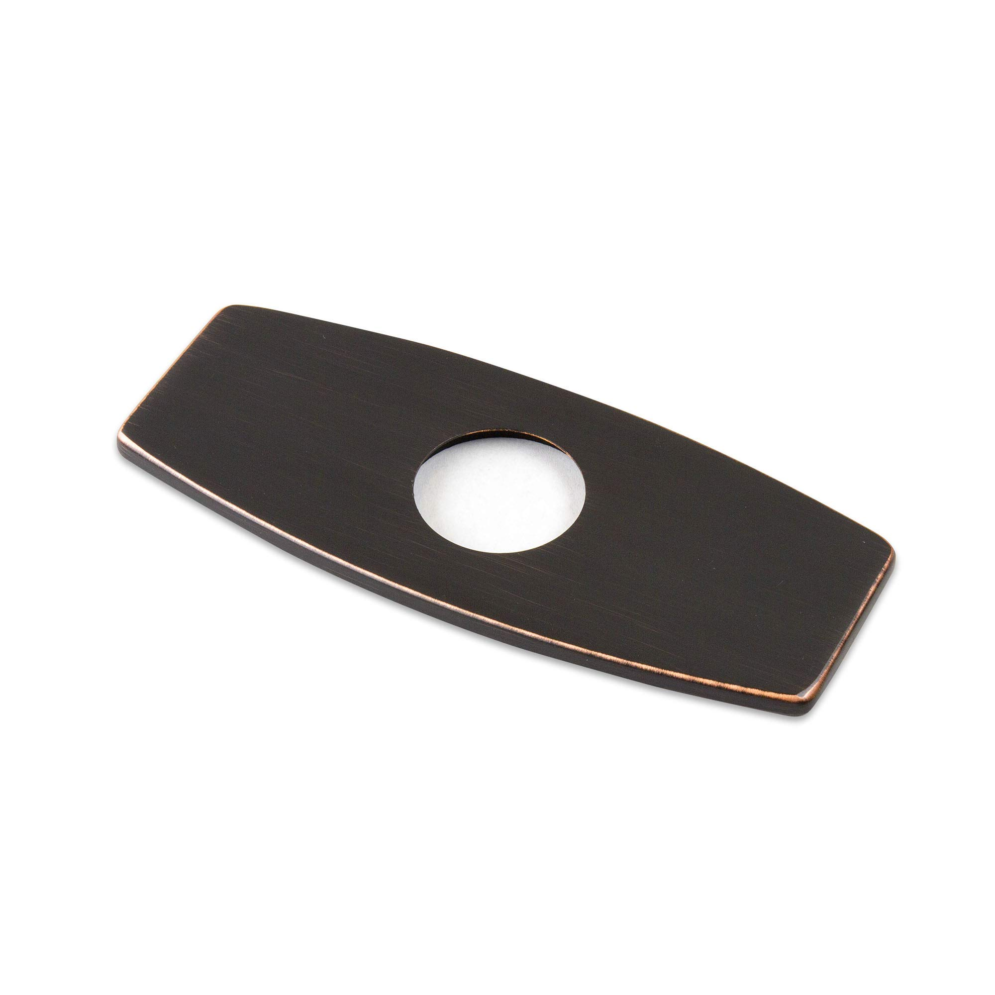 Decor Star PLATE-6O Bathroom Vessel Vanity Sink Faucet 6'' Hole Cover Deck Plate Escutcheon Oil Rubbed BronzE