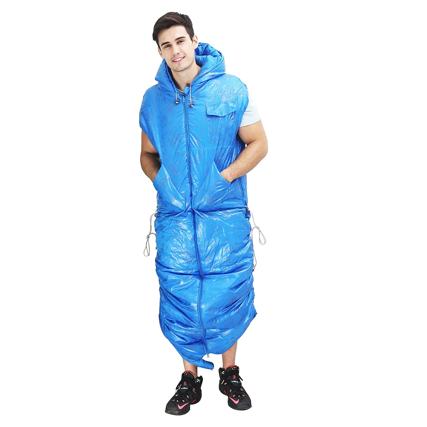 Sleeping Bag – Adjustable Lightweight Portable, Waterproof, Comfort With Compression Sack   Great For 4 Season Traveling, Camping, Hiking, Outdoor Activities & Office by Wnnideo
