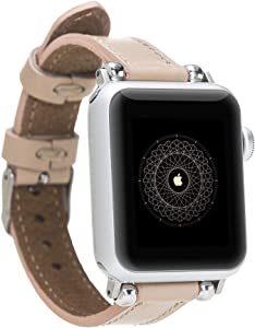 Solo Pelle Leather Bracelet Lady Slim for The Apple Watch Series 1-4 I Bracelet for The Original Apple Watch 1, 2, 3 and 4 in 38 / 40mm Nude Pink