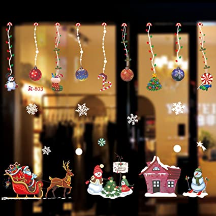 golf christmas window decorations clings chritmas decorations home shop window coverings decor wall decals stickers - Christmas Window Decorations Amazon