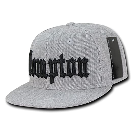 b99dcdcf127f6a Amazon.com: Nothing Nowhere Old English City Snapback Cap, Heather Grey:  Sports & Outdoors