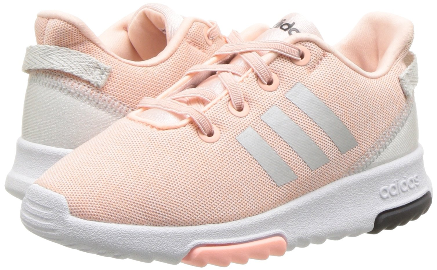 adidas Kids CF Racer TR Running Shoe, Haze Coral/Metallic Silver/White, 4K M US Toddler by adidas (Image #6)