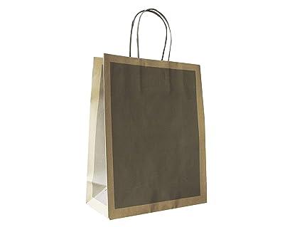 Carte Dozio - Bolsa de papel reciclado habana con recuadro ...