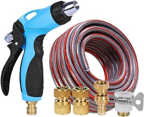 Wlylyhjy 6 Capas PVC a Prueba explosiones la Manguera, Manguera jardín con múltiples Funciones Boquilla Pistola de Agua/a Prueba de Fugas-Manguera Conjunto para riego/Limpieza: Amazon.es: Deportes y aire libre