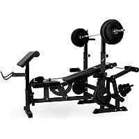 Klarfit Workout Hero 300 - krachtstation, fitnessstation, trainingsstation, bankdrukken, trekkabel, krultafel…