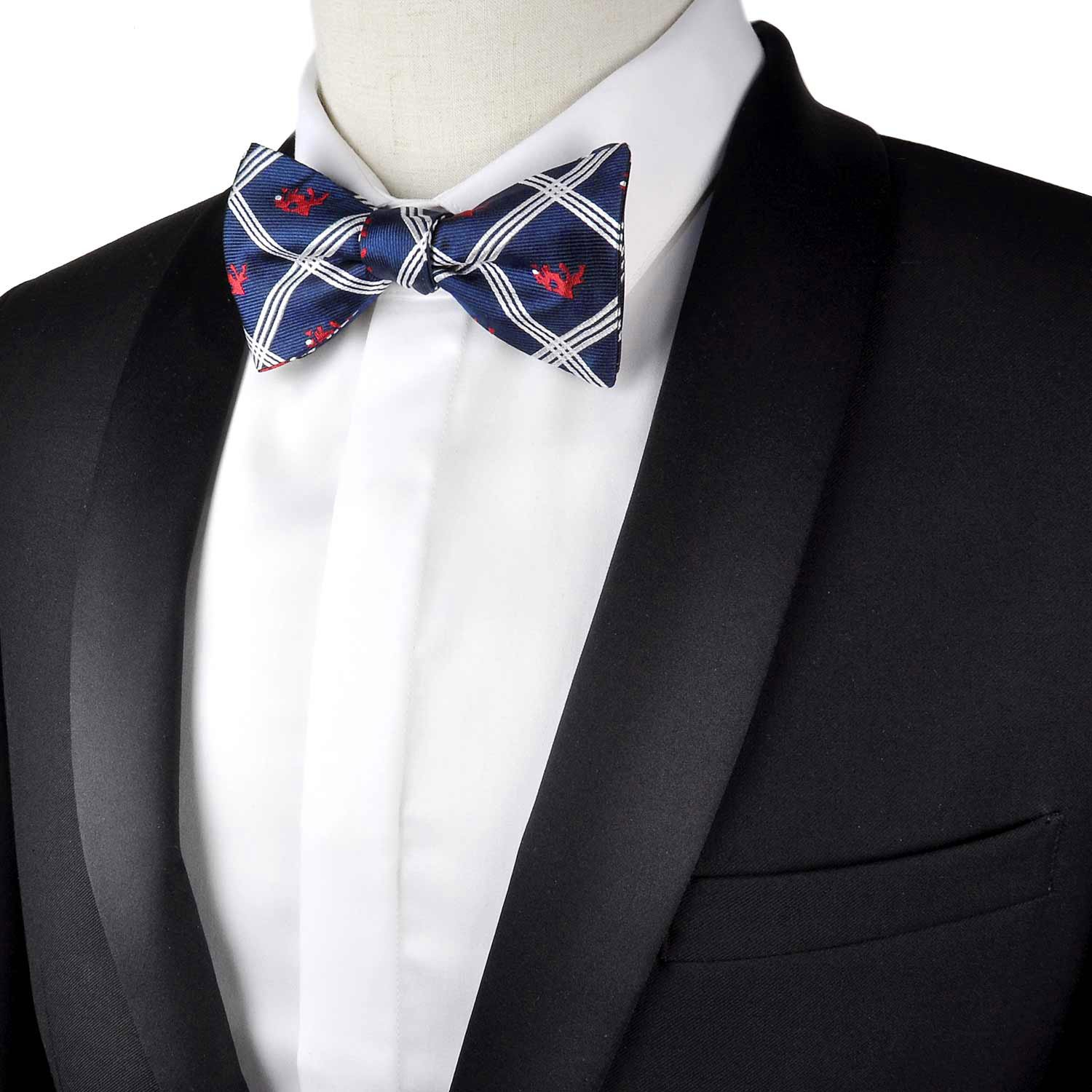 100/% Silk Mens Abstract Camel Bowtie Self Tie Bow Tie by Murong Jun Great for a Wedding or Tuxedo