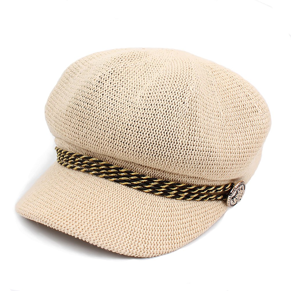 Fasbys Women Breathable Lightweight Hat Outdoor Comfort Straw Cap Summer Vacation Hat (Beige)