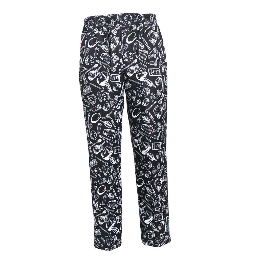 258a93628a2259 Amazon.com: Fityle Baggy Chef Work Pants Restaurant Kitchen Uniform Trousers  Elastic Waistband: Clothing