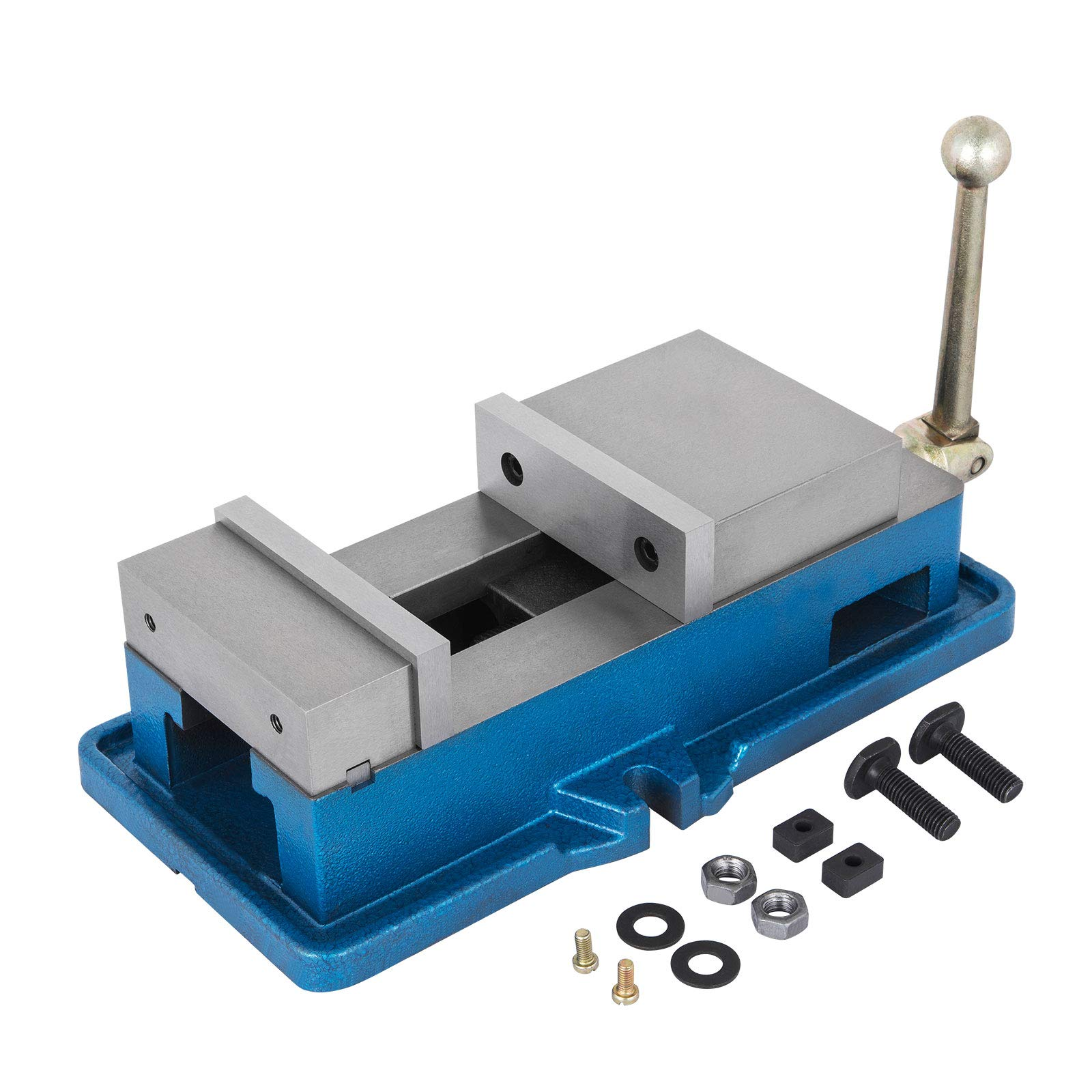 OrangeA Bench Clamp Vise High Precision Clamping Vise 4 Inch Jaw Width Accu-lock Vise Hardened Metal Milling Machine