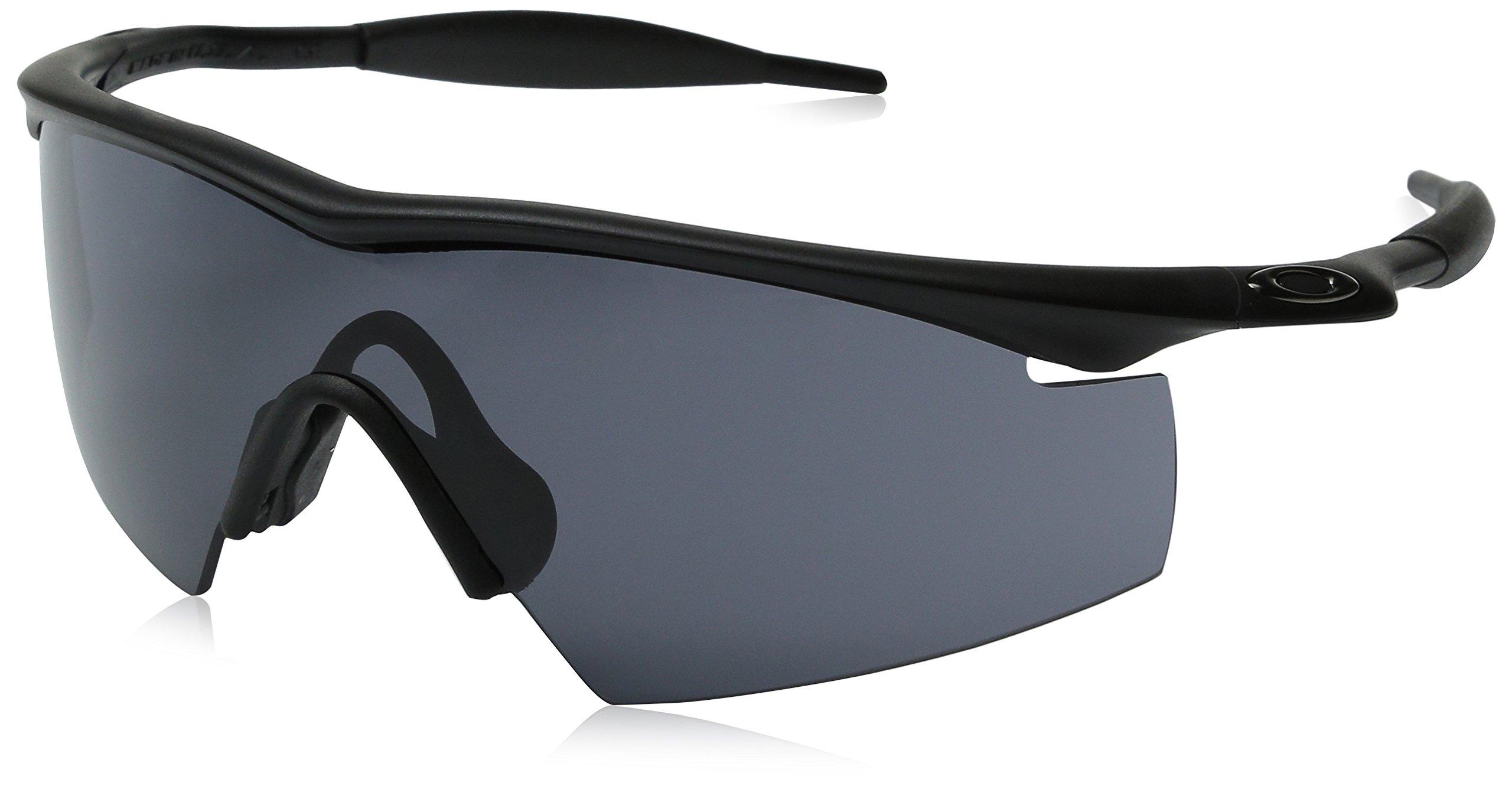 Oakley Men's OO9060 M Frame Strike Shield Sunglasses, Black/Grey, 29 mm by Oakley