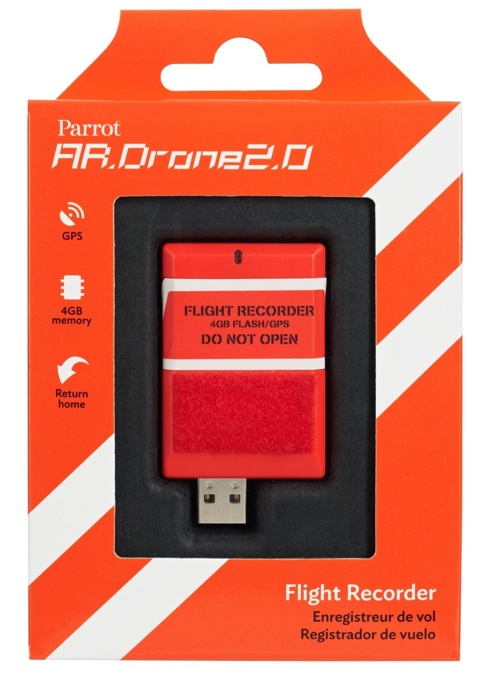 Parrot AR.DRONE 2.0 Flight Recorder: GPS, 4GB, return to take-off...