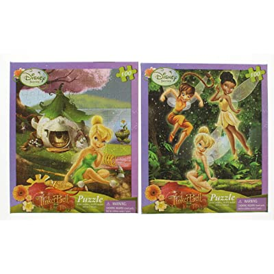 2 Pk. Disney Fairies Tinkerbell 100-Piece Lost Treasure Jigsaw Puzzle (200 Pieces Total): Toys & Games