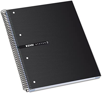 Enri Status - Pack de 5 cuadernos espiral microperforados, tapa ...