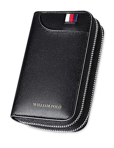 c2c8d05225e7 WILLIAMPOLO 財布 キーケース メンズ スマートキーケース プレゼント おしゃれ 175120 (ブラック)