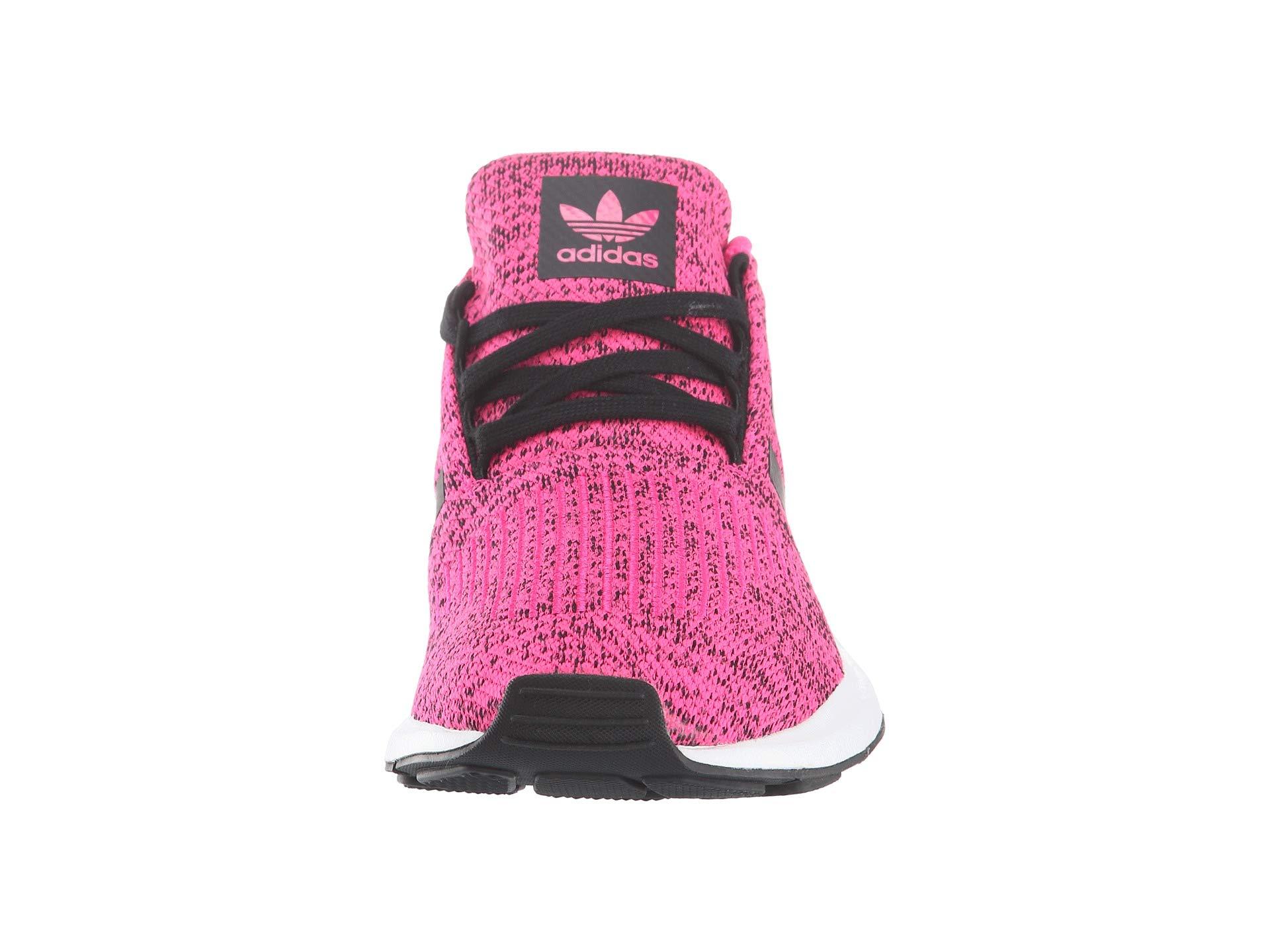 adidas Originals Kids Girl's Swift Run J (Big Kid) Shock Pink/Black 4.5 M US Big Kid by adidas Originals (Image #5)