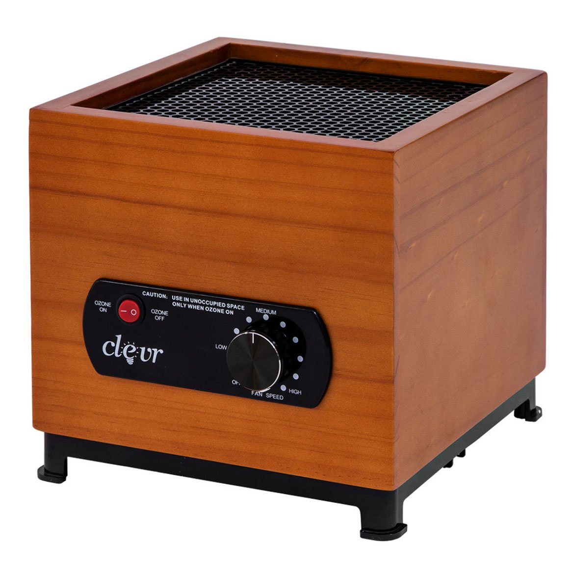 Clevr 8 Stage Ozone Generator Air Purifier, Bamboo Casing Design, Filter, Ozone, Ionic, UV, Plasma, Home Use, 1000 Square Feet Coverage | 1 YEAR LIMITED WARRANTY