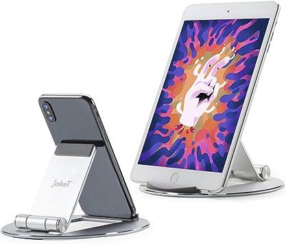 jakeT Soporte de mesa para tablets y smartphones, soporte ajustable de aluminio para iPad, Samsung y Huawei Matepad: Amazon.es: Electrónica