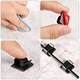 100 Pieces Mini Outdoor Cable Clips with Adhesive