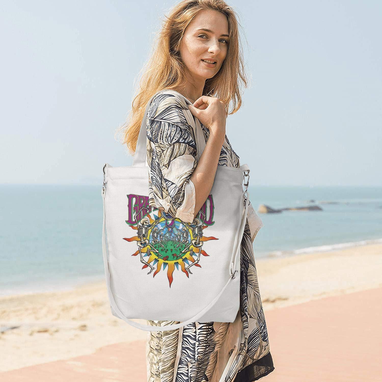 Womens Canvas Tote Handbags Casual Cross Body Shoulder Bag Rock Music Band Members Zipper Hobo bag