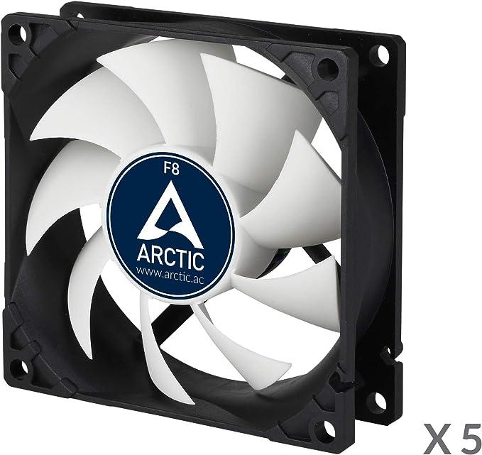 ARCTIC F8 - Ventilador estándar caja 80 mm, pack 5, silencioso, posibilidad instalación 2 direcciones: Amazon.es: Informática