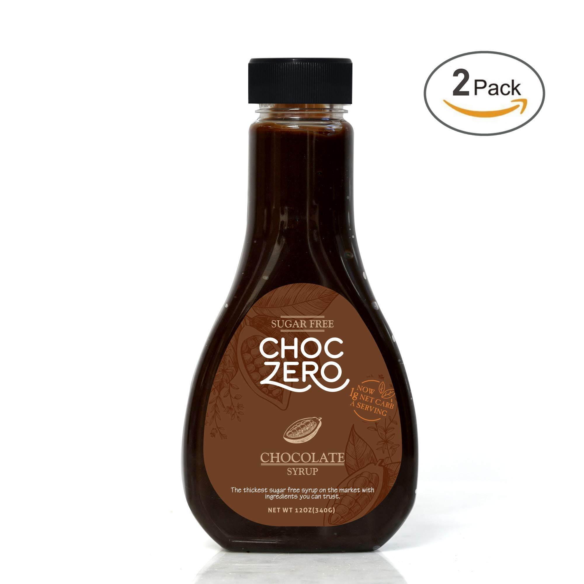 Honest Syrup, Chocolate Sauce. Sugar free, Low Carb, No preservatives. Thick and rich. Sugar Alcohol free, Gluten Free, Real Cocoa Liquor. 2 Bottles(2X12oz)