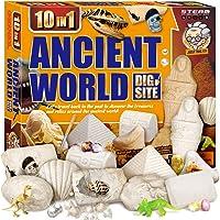 XXTOYS Egyptian Mummy Dig Kit for Kids Break Into 10 Bricks Fossils Excavation Set Interactive Excavating Toys Great…