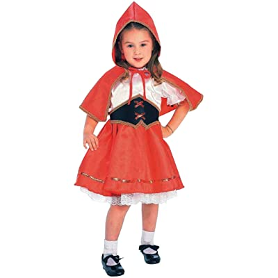 Toddler 2-4T or Child 4- Little Red Riding Hood Costume with Cape!: Baby