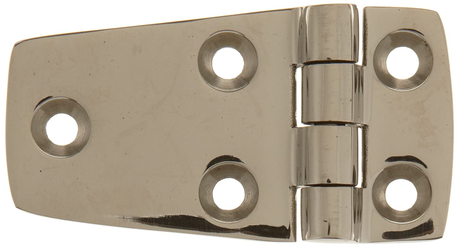 Sugatsune 27800 Stainless Steel 316 Butt Hinge with Holes, Mirror Finish, 4mm Leaf Thickness, 72mm Open Width, 22mm Pitch, 38mm Height