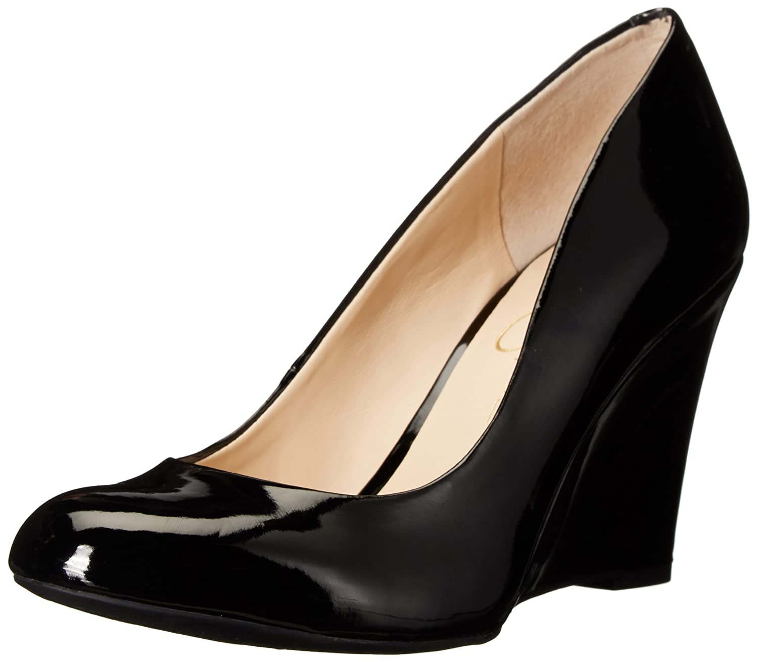 Black Patent Jessica Simpson Women's Cash Wedge Pump