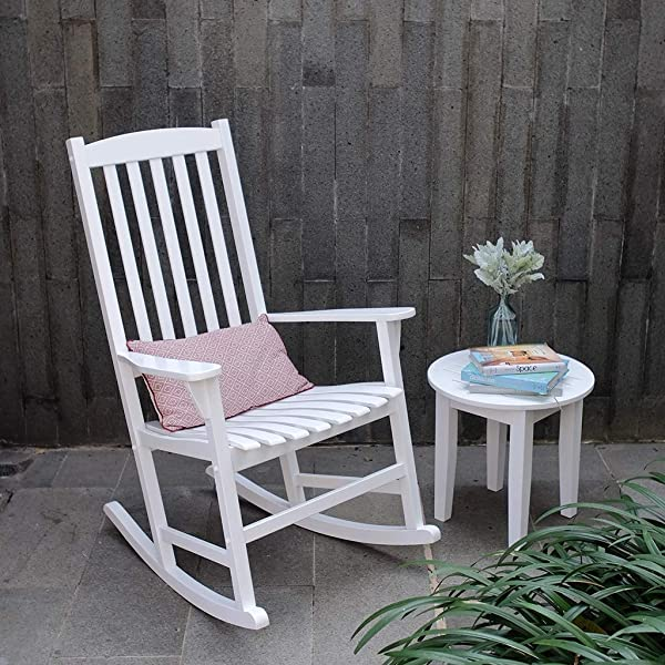 Cambridge-Casual AMZ-130818W Bentley, Porch Rocker, White